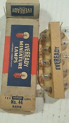 GE/Eveready No. 44 General Electric GE44 Miniature Lamps 6-8 VOLT RADIO