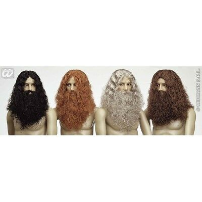 1 CAVEMAN WIG BEARD BOXED (black ginger brown grey) Accessory for Stone Age Preh
