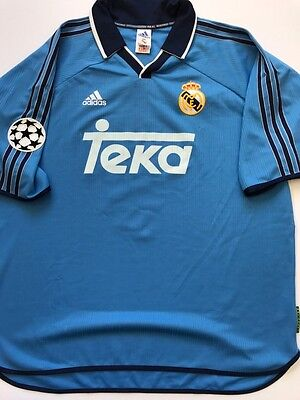 Match Worn Shirt Real Madrid Champions League 1999-2000 rare !!