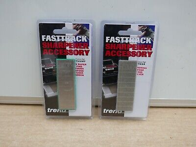Pair Of Trend Fast Track Diamond Stones Silver 100Grit & Green 1000Grit