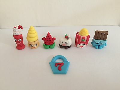 Edible Shopkins Birthday Cake Cupcake Toppers Decorations Personalised Name Age
