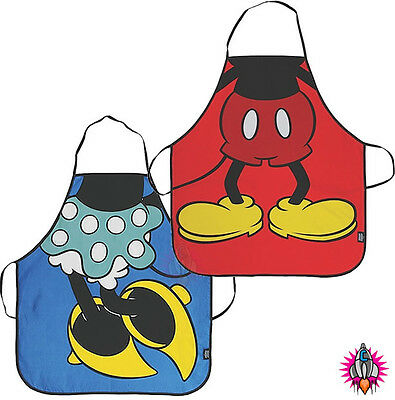 New Disney Mickey And Or Minnie Mouse Adult Cotton Kitchen Apron Pinny