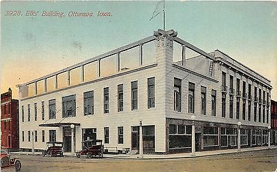 C11/ Ottumwa Iowa Ia Postcard 1911 Elks Hall Fraternal Building