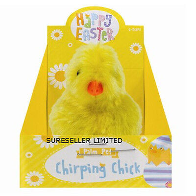 Yellow Easter Chirping Noise Chick Pet Egg Hunt Kids Children  Party Toy