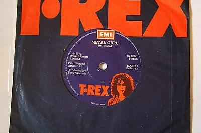 "MARC 1 T•REX  ‎– Metal Guru 7"" SINGLE EX"