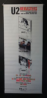 U2 Boy | October | War | Remasters Album Promo Double-Sided Vinyl Banner Poster
