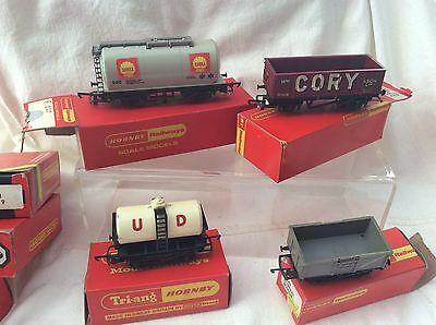 00 GAUGE HORNBY JOB LOT OF 4x WAGONS - R020 / R022 / R15 / R243 - BOXED