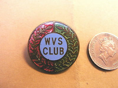 Enamel & Brass WVS Club Badge WWII