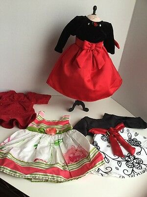 Dollie and Me Doll Lot Clothes Dresses  Preowned 18""