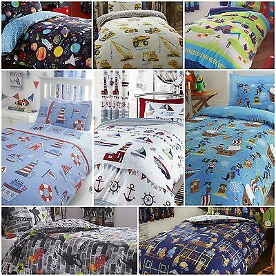 Children's Kids Boys Duvet / Quilt Cover Bedding Sets OR Matching Curtains