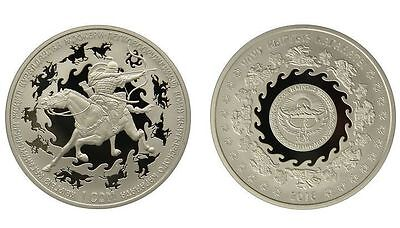 KIRGUISTAN 10 som plata 2016 Lightly armed warrior of the Kyrgyz Kaganate BOX