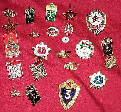 22 Russian Pins Hat Cap Vest Jacket Lapel Olympic Army Soviet Union Russia Army