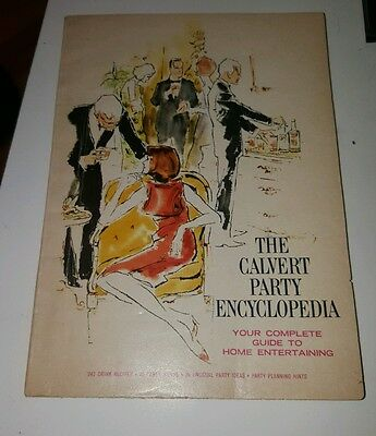 THE CALVERT PARTY ENCYCLOPEDIA  MID-CENTURY BOOKLET Vintage 1966 PARTY PLANS
