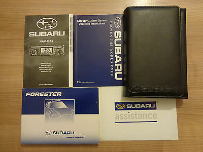 Subaru Forester Owners Handbook/Manual and Wallet 02-04