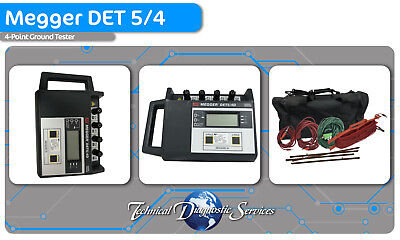 USED - Megger DET 5/4 Ground Tester - With Calibration
