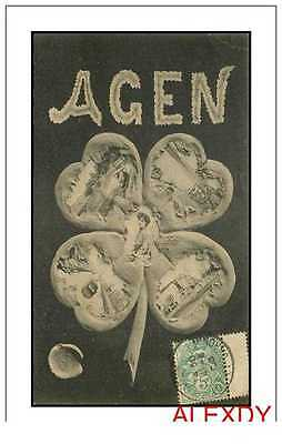 (Ph) New Cpa 47 Agen *** Multivues 1908 ***