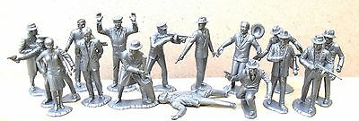 "Untouchables Marx Toys Recast 16 Characters 2"" 1960's 1/32 Scale Super Detailed"