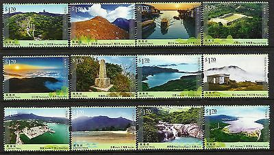 Hong Kong 2016 Hiking Trail Series No. 1 Lantau Trail set of 12 MNH