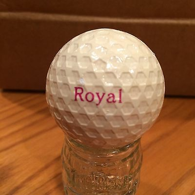 Red Flower Octagon Dimples Royal  Golf Ball, Old Vintage