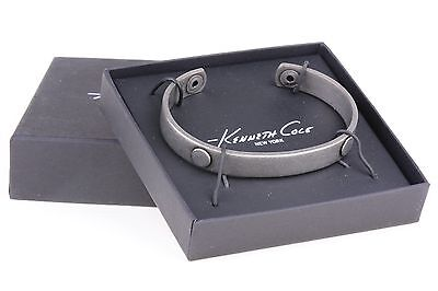 $42 Kenneth Cole New York Men's Oxidized Silver Solid 9mm Cuff Bracelet