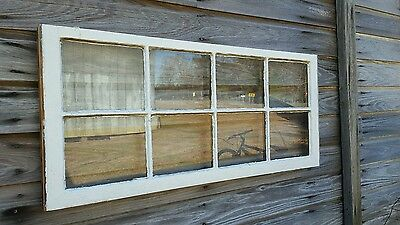 VINTAGE SASH ANTIQUE WOOD WINDOW UNIQUE FRAME PINTEREST WEDDING 8 PANE 44 x 20