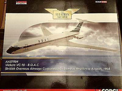 Limited Edition Corgi Aviation Archive 1:144 AA37004 Vickers VC-10 B.O.A.C 1964