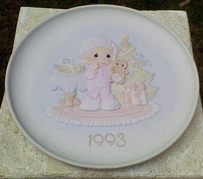 Precious Moments Collector Plate Wishing You The Sweetest Christmas Vintage 1993