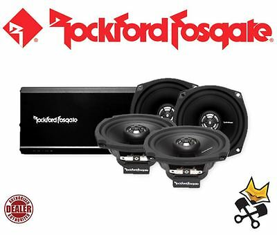 Rockford Fosgate Prime 160 Watt 4-Channel Speaker & Amp Kit Harley 98-'13 Fl