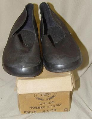 VTG 50s RUBBER GALOSHES OVER SHOES BOOTS NOBBEE STORM TRICO CHILDS 9 NEW OLD NOS
