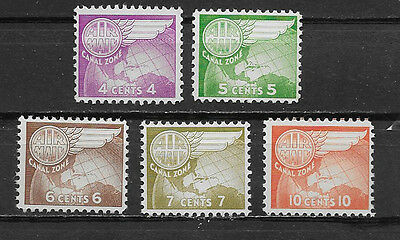 Canal Zone , Us, 1951/58 , Air Mail ,   Set Of 5 , Perf , Mnh