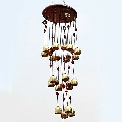 Wind Chime Chinese Traditional 18 Bells 90cm Bronze Garden Outdoor Windchime New