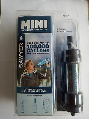Sawyer Mini SP105 - Water Filtration Kit Black Filters up to 100,000 Gallons