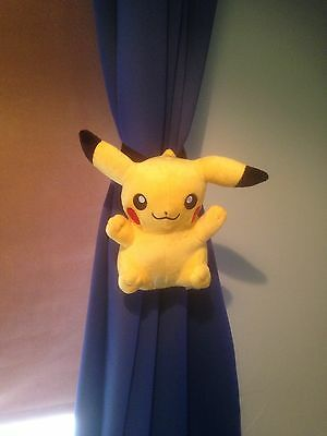 Pikachu Pokemon  Childrens Kids Bedroom Character Curtain Tie Backs Pair