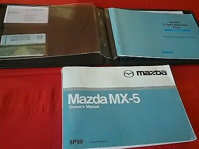 Mazda MX5 Owners Handbook/Manual and Pack 98-03