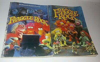 Rare Fraggle Rock Books 1 & 2 Soft Cover Jim Henson Muppets