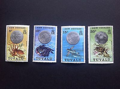 Tuvalu New Coinage Stamps MNH !!