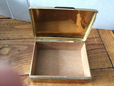 Old Brass Cigarette Box Marked state Express