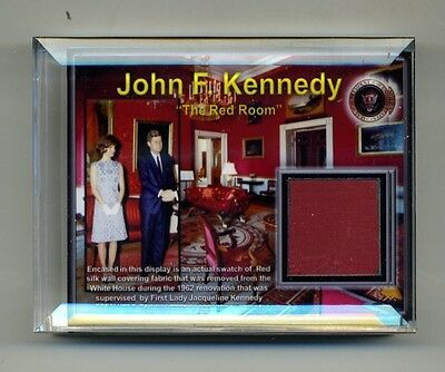 Authentic Piece of the White House Red Room in a Beautiful Display - JFK
