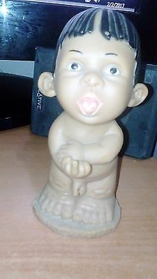 Vintage Rubber Doll Rude Cheeky Boy Nude Showing the finger Naked Gloobee Like
