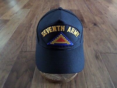 U.S MILITARY ARMY SEVENTH 7th ARMY HAT OFFICIAL ARMY BALL CAP U.S.A. MADE