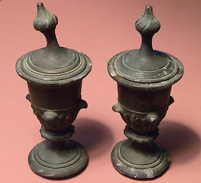 4261. Pair of Early Bronze Classical Urn Finials probably Continental French?