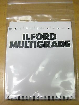 "Ilford Multigrade filters Set of 12 Ilford Multigrade 6x6"" filters new old stock"