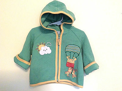 Hanna Andersson Unisex Infant/Baby Hooded Jacket-Green- Size 70/6-12 Mo-EUC!