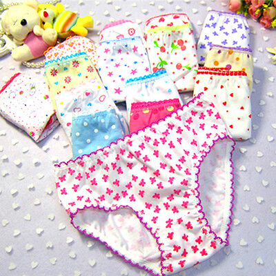 Fashion Kids Girls Soft Children Floral Bottoms Panties Briefs Shorts Underwear