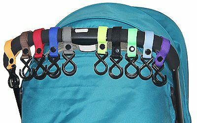 HIG Stroller Hook - 10 Pack of Multi Purpose Hooks - Hanger for Baby Diaper
