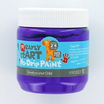 Micador Early Start No Drip Brush or Finger Paint 250mls - Purple Grape