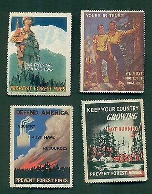 1930's/1940's Forest Fire Prevention Poster Stamps