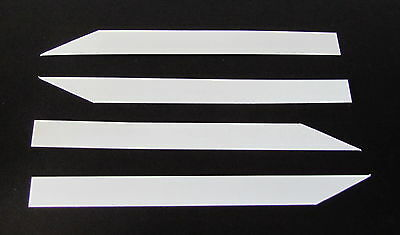 """Plant Labels - 250 Quality Flexible Plastic Labels (4"""" X 1/2"""") Made In Australia"""