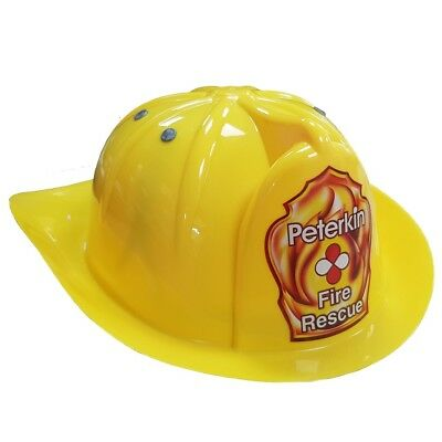 Kids Fire Chief Yellow Helmet Childrens Fire Fighters Fireman Hat New