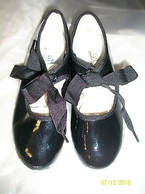 Little Girl's Dance Class Black Tap Shoes